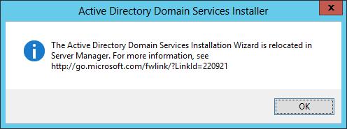 dcpromo windows server