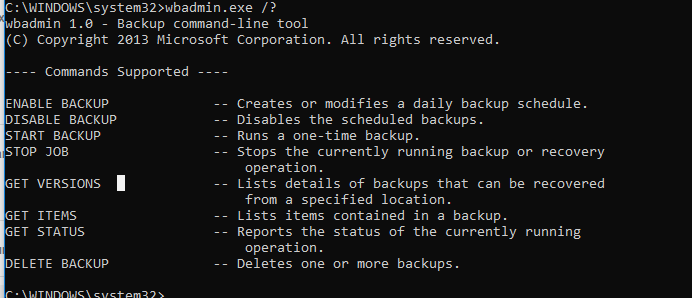 Windows Backup using Wbadmin – TheITBros