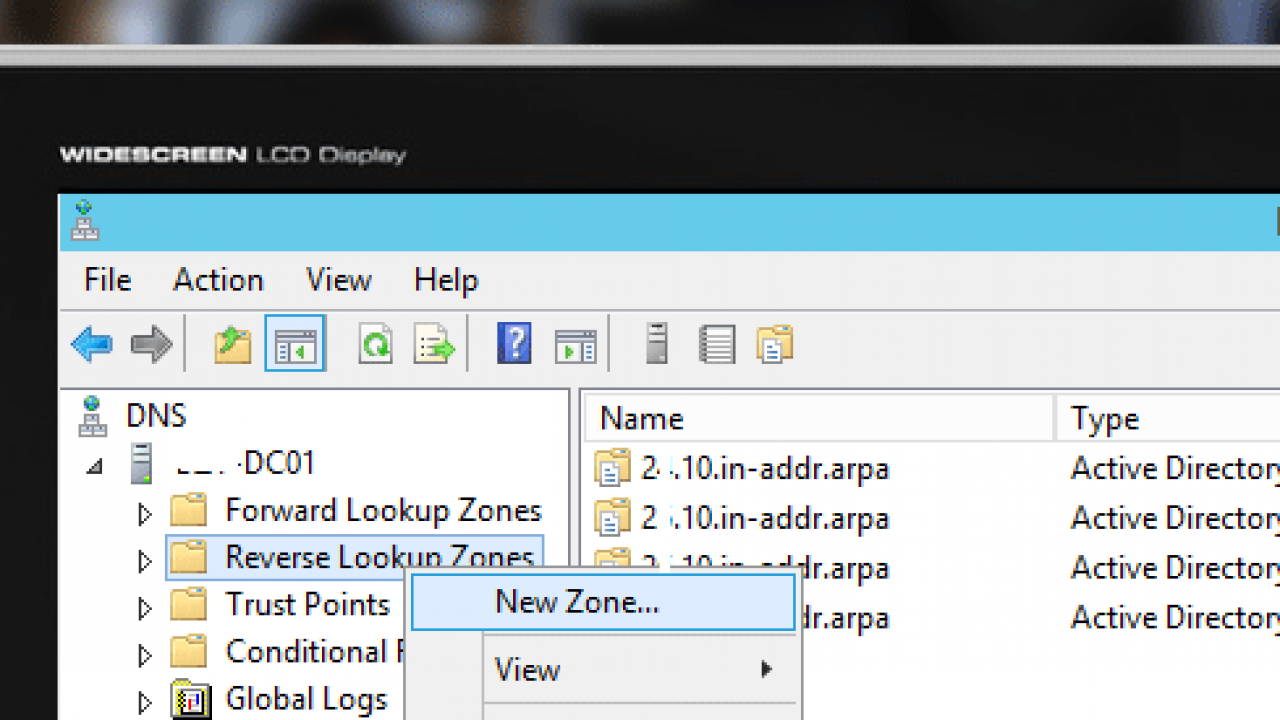 How to Create Reverse DNS Lookup Zones and PTR Record on