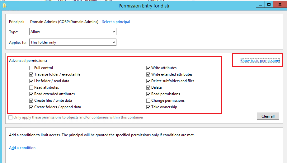 windows folder permissions