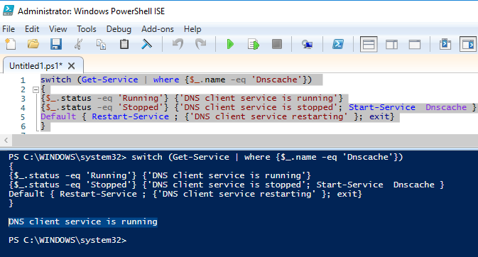 powershell switch