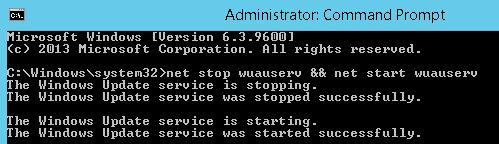 windows update error 80072ee2 server 2012