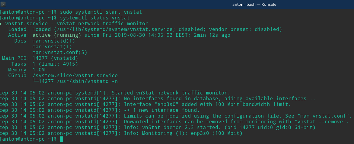 check network utilization linux