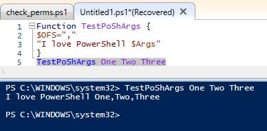 powershell function parameter