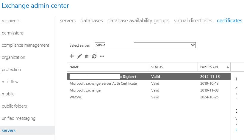 exchange renew ssl certificate