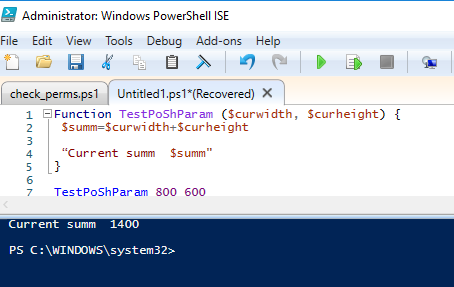 powershell function arguments