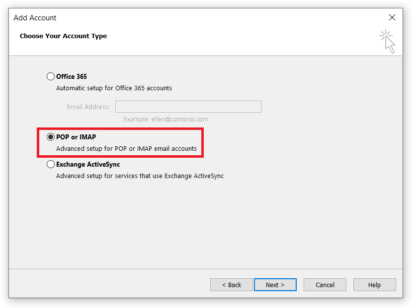 outlook cannot connect to imap server