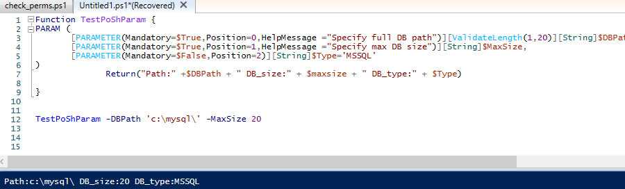 powershell function parameter types