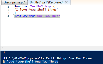 powershell function parameters