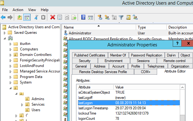 last logon time active directory powershell