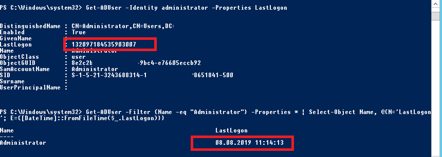 powershell get last logged on user