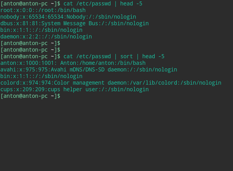 sort command in linux