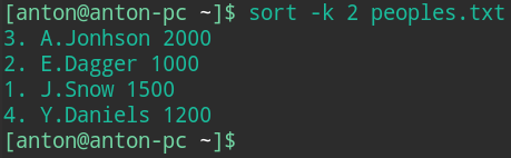 bash sort by date