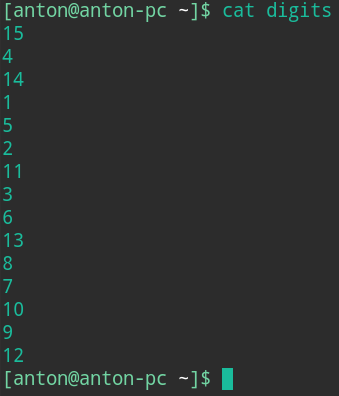 bash sort examples