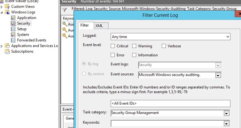 enable advanced audit policy configuration