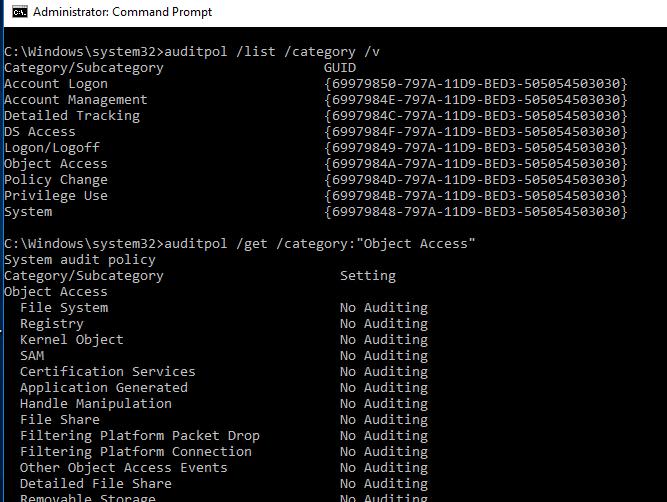 advanced audit configuration windows