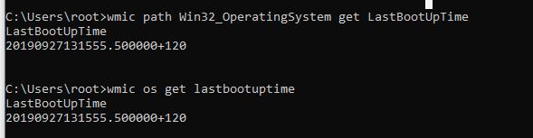 check windows server uptime