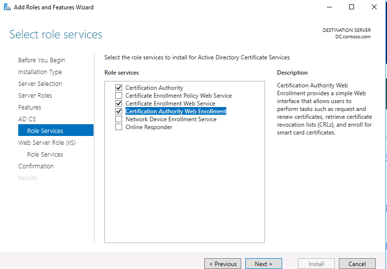 microsoft active directory certificate services