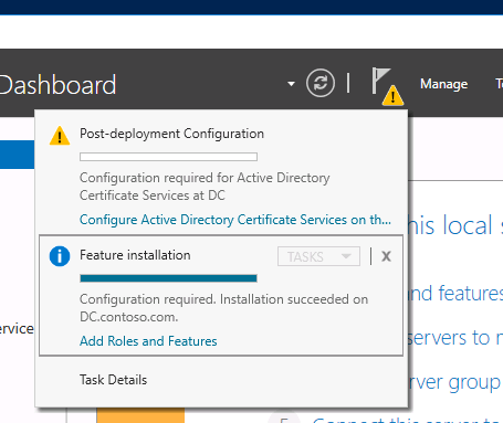 windows server 2016 active directory certificate services