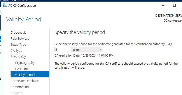 windows server 2016 certificate services