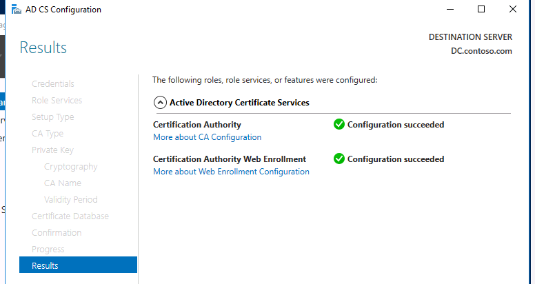 active directory certificate services policy