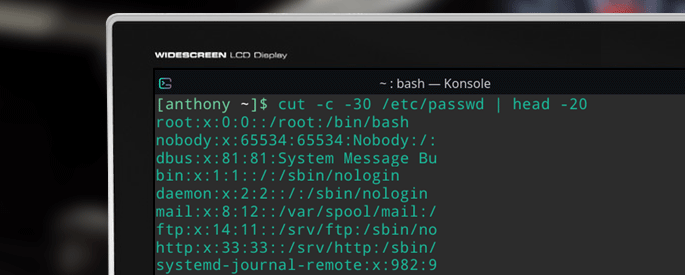 cut command linux