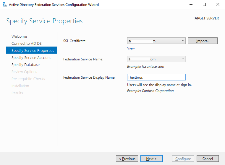 active directory federation