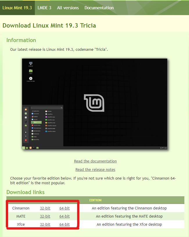install linux mint via usb