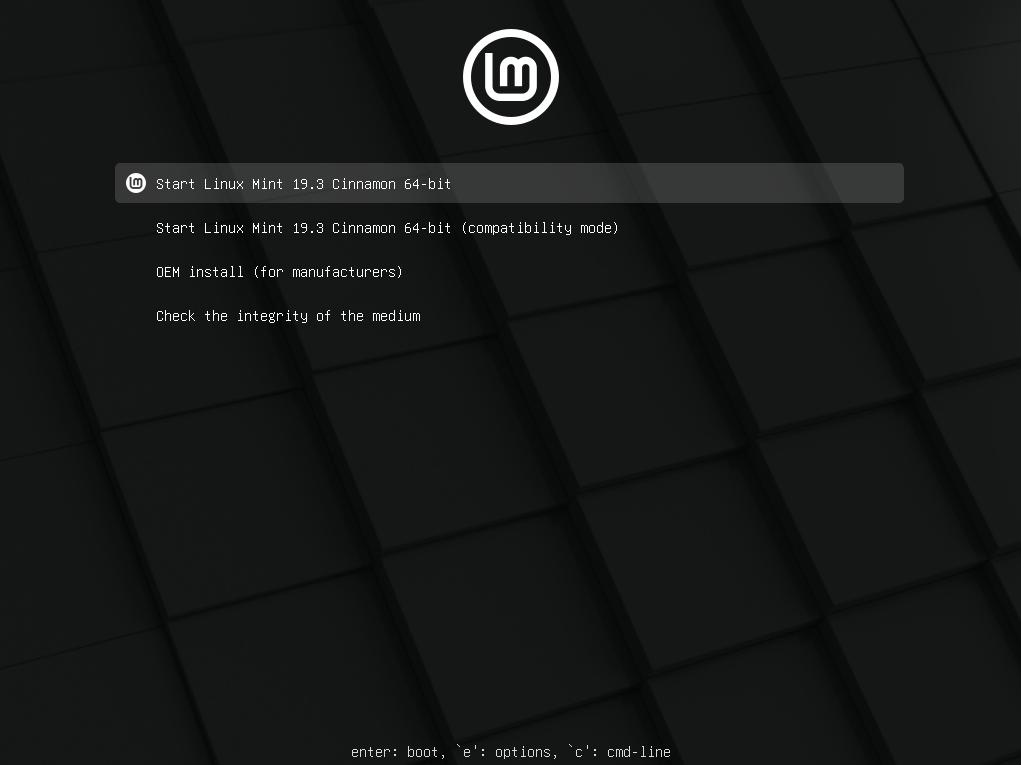 install linux mint from usb flash drive