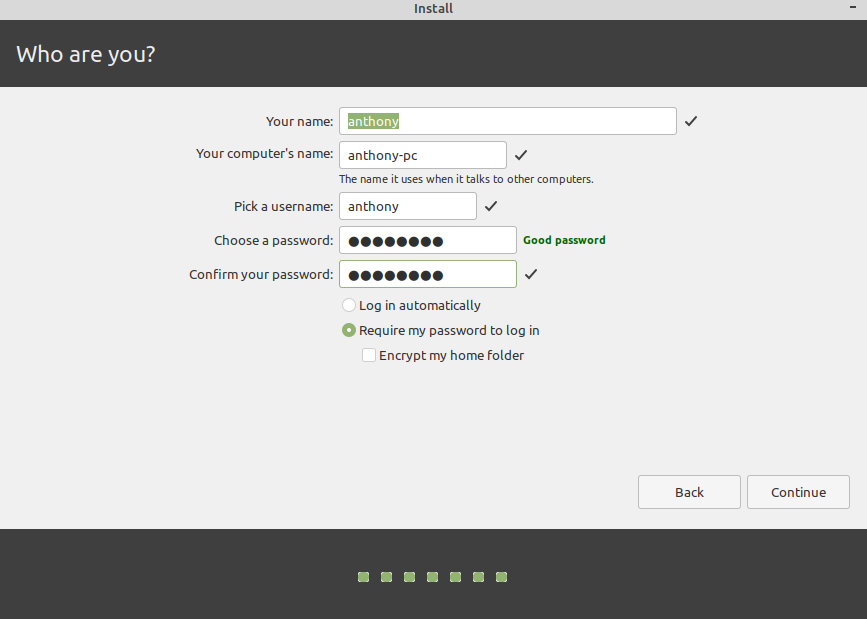 install linux mint from usb stick