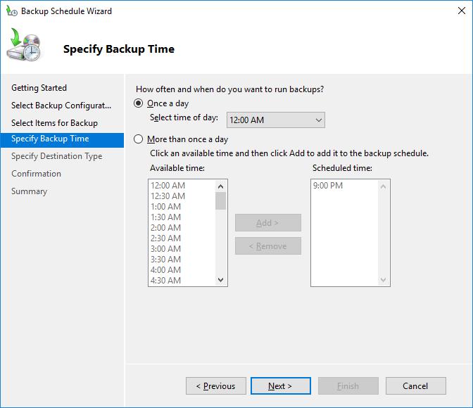windows backup active directory