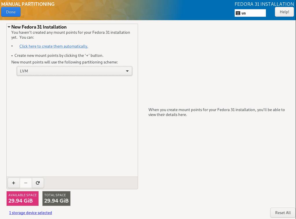install fedora linux server