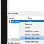 Disable Active Directory Account