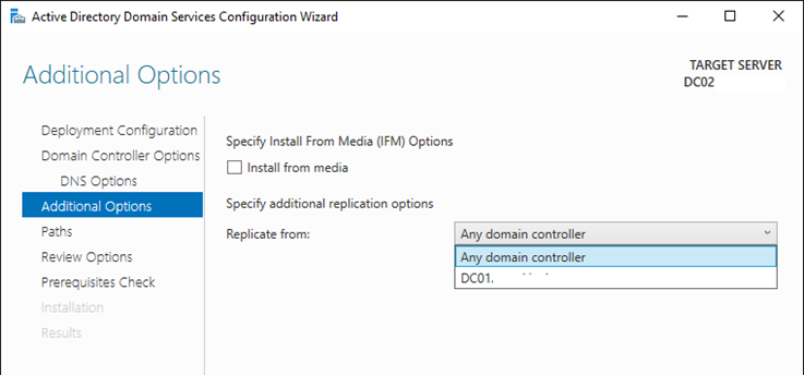 domain controller and additional domain controller