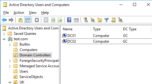 add new domain controller to existing domain server 2016