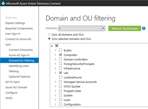 office 365 active directory sync existing users