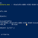 restore deleted active directory users