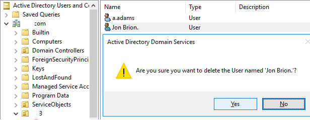 restore deleted active directory user