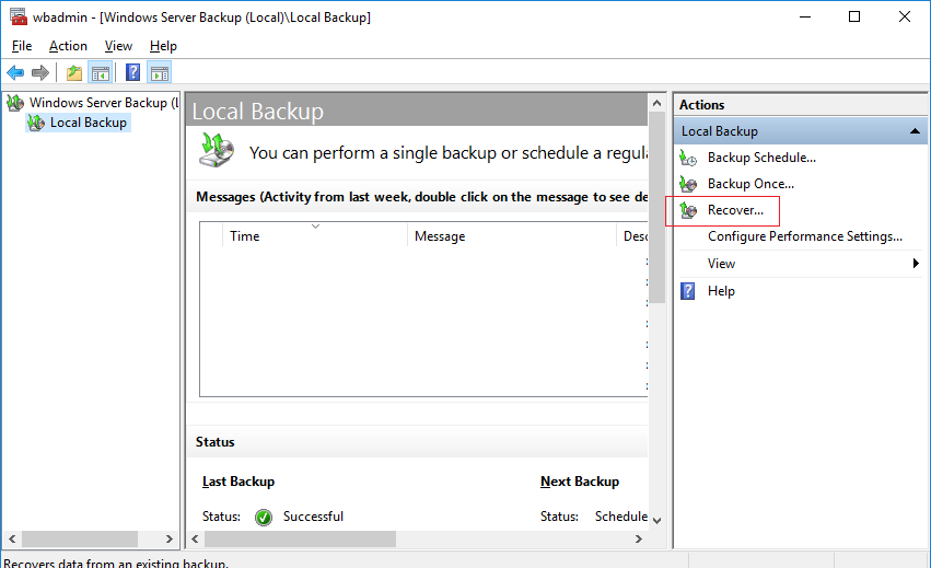 domain controller backup and restore