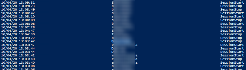 powershell get specific user login history