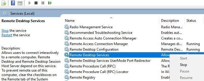 Change RDP Port Number on Windows 10