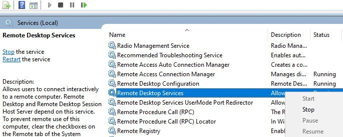 Change RDP Port Number on Windows 10
