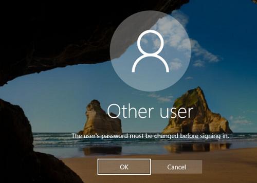 powershell set user must change password at next logon