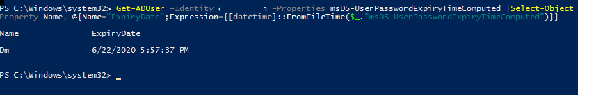 powershell password expiration
