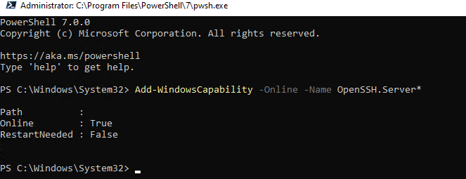 windows 10 ssh server