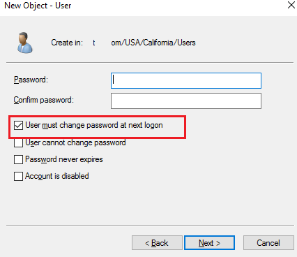 user must change password at next logon powershell