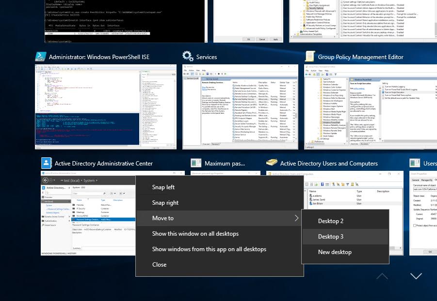 windows 10 2 desktops