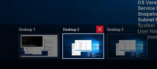 multiple workspaces windows 10
