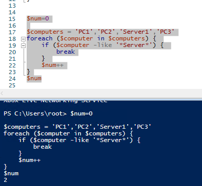 powershell foreach line in file