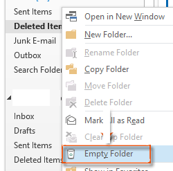clean up folder outlook